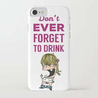 drunk iPhone & iPod Cases featuring DRUNK GIRL by flydesign