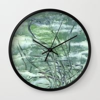 grass Wall Clocks featuring GRASS by AMULET