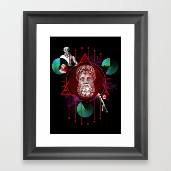 Geometric Gods Framed Art Print