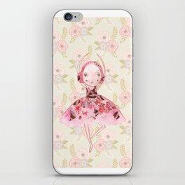 Isabella Bellarina Dancing on Flowers iPhone Skin