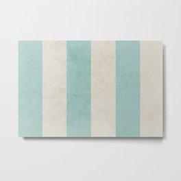 vintage robins egg blue stripes Metal Print