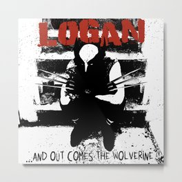 ...And Out Comes Logan Metal Print