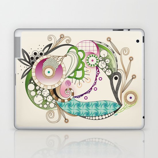 Autumn tangle, sienna - purple color set Laptop & iPad Skin