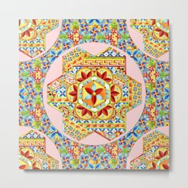 Gypsy Boho Chic Hexagons Metal Print