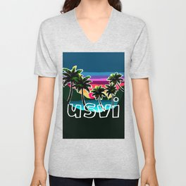 USVI sunset Unisex V-Neck