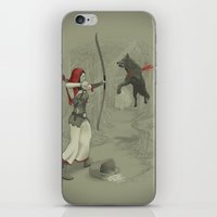 robin hood iPhone & iPod Skins featuring Little Red Robin Hood by Santo76