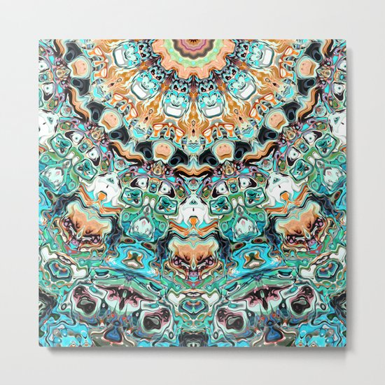 Abstract Colorful Pattern Metal Print