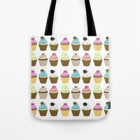 cupcakes Tote Bags featuring Cupcakes by heartlocked