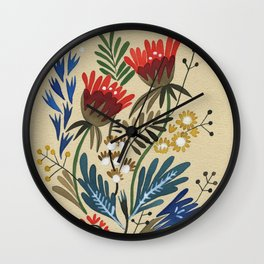 folkflower I Wall Clock