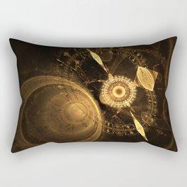 Golden Clock Rectangular Pillow
