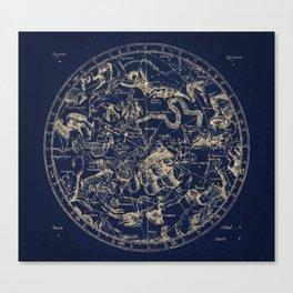 Gold Ceiling | Zodiac Skies Canvas Print