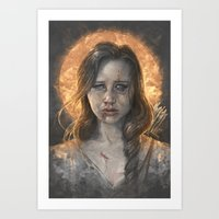 katniss Art Prints featuring Katniss by Sam Spratt