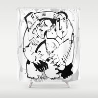 drunk Shower Curtains featuring Drunk by 5wingerone