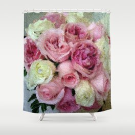 Gorgeous light pink and mauve wedding bouquet Shower Curtain