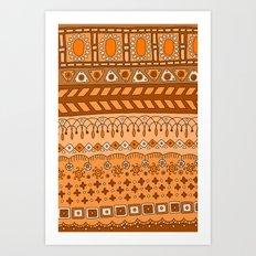 Yzor pattern 008 warm Art Print