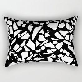 Terrazzo White on Black Rectangular Pillow