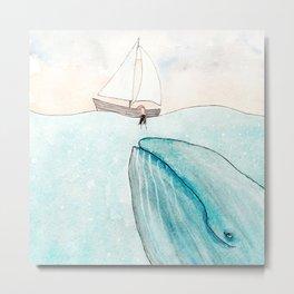 Whale watching Metal Print