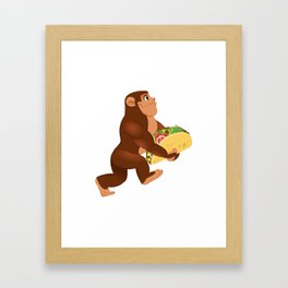 Bigfoot Taco Cinco de Mayo Funny Framed Art Print