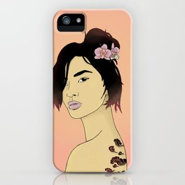 Cloudy Lady iPhone Case