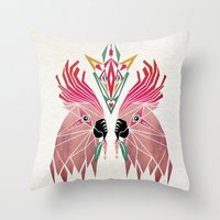parrot Throw Pillows featuring parrot by Manoou