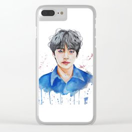 Taehyung watercolor Clear iPhone Case
