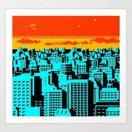 NES Cityscape 07A Art Print