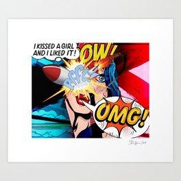 I kissed a Girl - Color Art Print