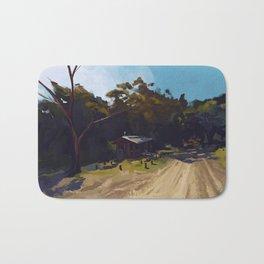 Tiny Australian house Plein air painting Bath Mat