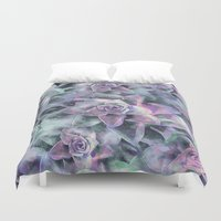succulents Duvet Covers featuring Succulents by Klara Acel