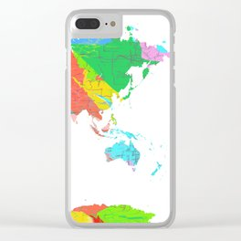 World Map - Watercolor 12 Clear iPhone Case