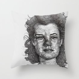 Roxy Renegade Queen of the Roller Derby Throw Pillow