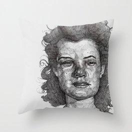 Roxy Renegade Queen of the Roller Derby Throw Pillow