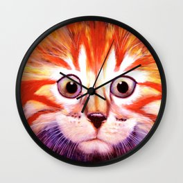 Flag Cat Wall Clock