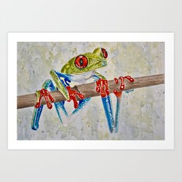 Rainforest Red-Eyed Tree Frog Art Print
