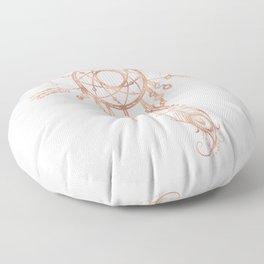 Mandala Rose Gold Pink Dreamcatcher Floor Pillow