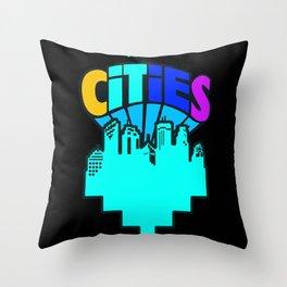 #heArtoftheCities Throw Pillow