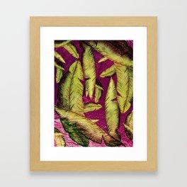 Chrome Banana Leaves Framed Art Print