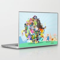 katamari Laptop & iPad Skins featuring Adventure Time - Land of Ooo Katamari by Sin nombre