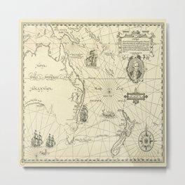 Old Maps Metal Print