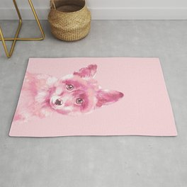 Baby Fox in Pink Rug