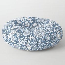 William Morris Navy Flower Field Pattern Floor Pillow