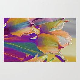 Vintage tulips (7) Rug
