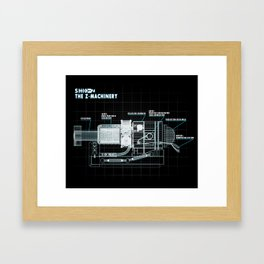 The Z-Machinery - Technical Blueprint Framed Art Print