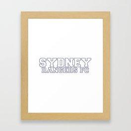College - White Framed Art Print