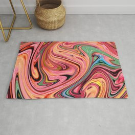 Liquid Marble Candy Rug