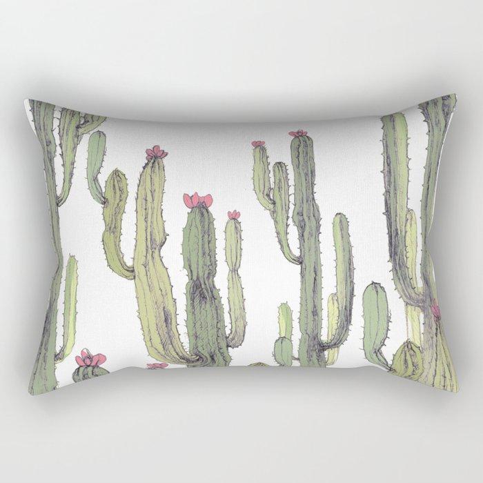 cactus in nature Rectangular Pillow