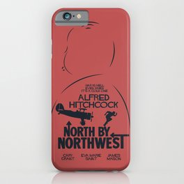North by Northwest, Alfred Hitchcock, minimal movie poster, classic film, Cary Grant, alternative iPhone Case