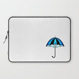 Bright Blue Black Rain Umbrella Illustration Laptop Sleeve