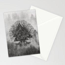 Valknut and Tree of Life Yggdrasil Stationery Cards