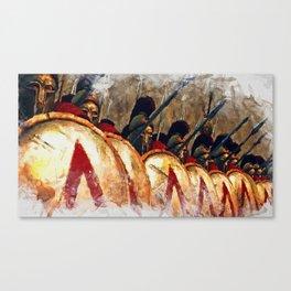 Spartan Army at War Canvas Print